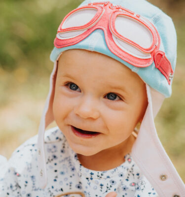 A cute baby girl hat