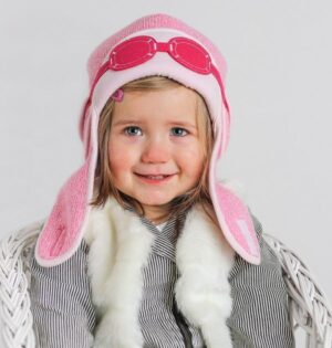 girls winter hat-baby girl aviator hats-baby knitted hats-baby gift sets-girls pilot hat