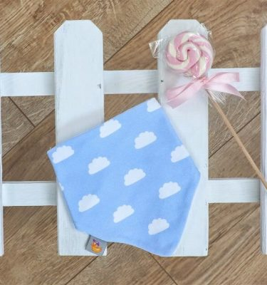 blue cloud bib