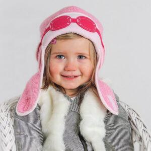 A lovely pink baby winter hat