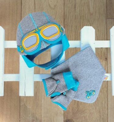 Kids Gift Set-Baby Hat-Baby Gift Set-Boys Gift Set-Baby Aviator Hat-Baby Motorcycle hat