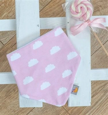 pink cloud baby bib