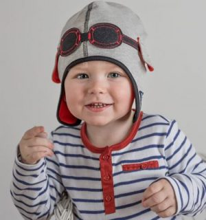 Pilot Baby Hat – Willowdream Jersey Grey