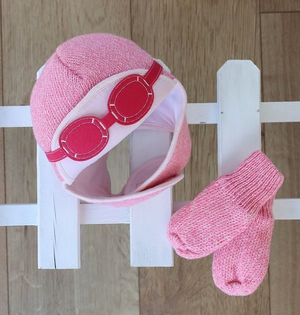 baby girl winter hat-girls aviator hat-baby knitted hats-baby gift sets