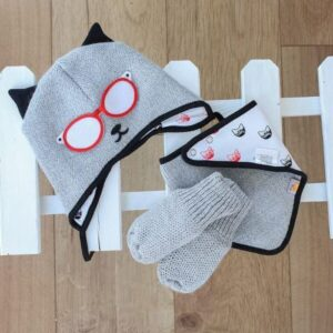 baby Christmas gifts-baby cat hats-baby pilot hats-gender neutral gift sets