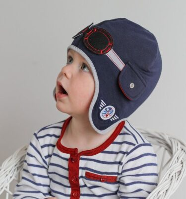Baby Boy Hat- Boys Hat-Boys Winter Hats-Biker Boy Hat-Boys Pilot Hat