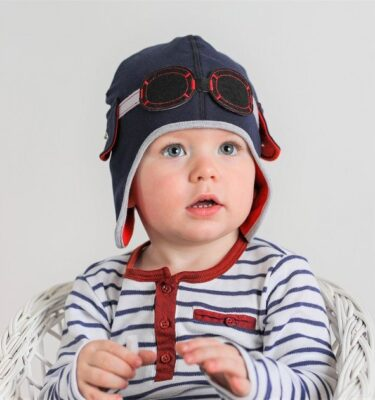Baby Boy Hat- Boys Hat-Boys Winter Hats-Biker Boy Hat-Boys Pilot Hats