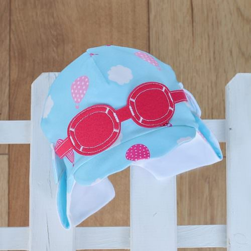 baby sun hat pink and blue