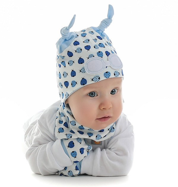 Baby Beanie Hat - Blue Ladybird   My Little Duckling 690fd402587