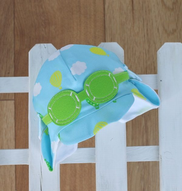 baby sun hat in green