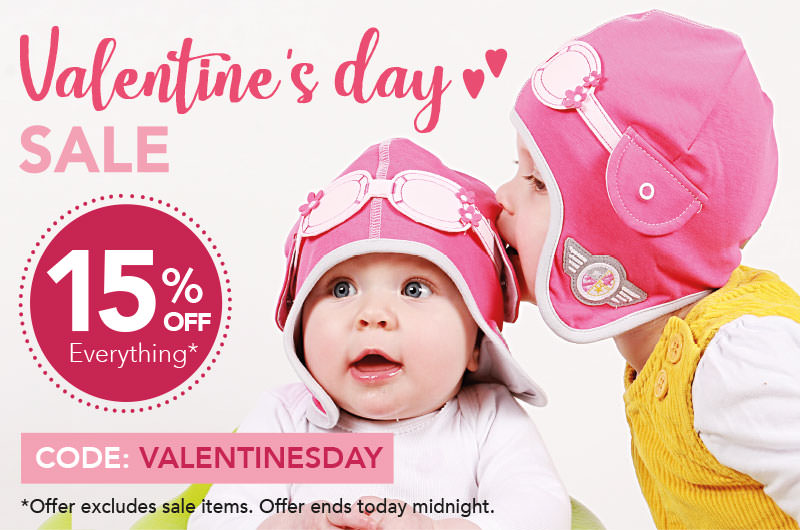 Discount on Valentine's Day  – 15% OFF Everything