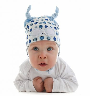 Baby Hat in blue ladybird