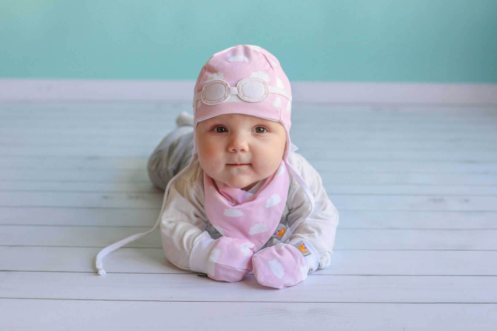 5f82a2268bf Baby Girl Gift Set of Matching Pilot Hat