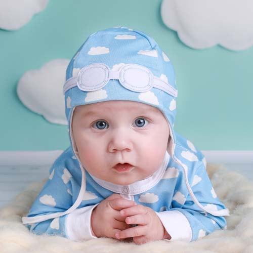 7a0d9c3ae7b Baby Gift Set of Pilot Hat and Bodysuit – Blue Clouds   My Little ...