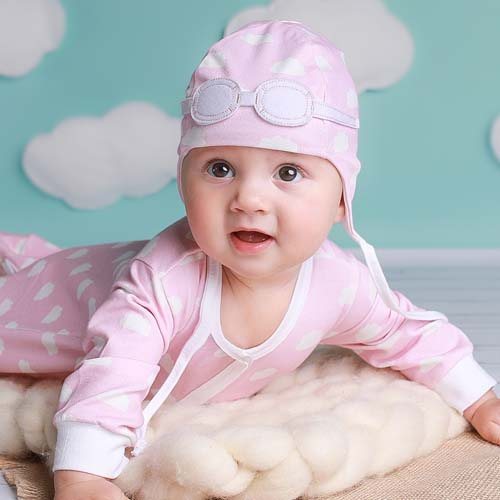 b2fca6f8f Baby Gift Set of Pilot Hat and Bodysuit – Pink Clouds : My Little ...