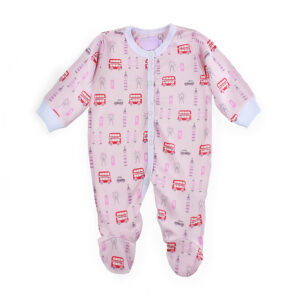 A lovely pink london baby grow