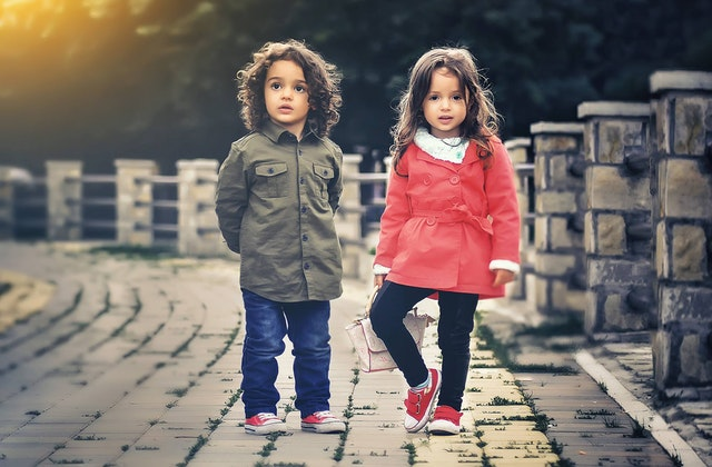childrens clothing for autumn - boy and girl children