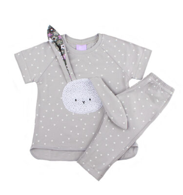 Baby girl bunny top and bottoms