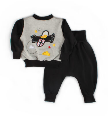 A unisex baby tracksuit