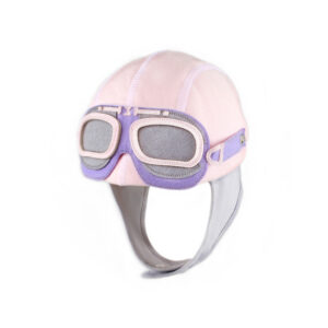A cute girls motorcycle hat